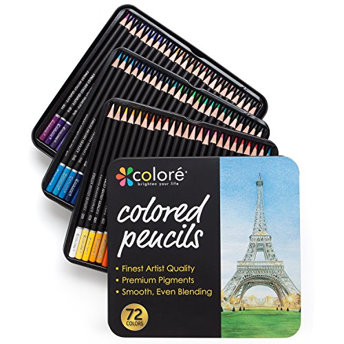 Colore Colored Pencils 72 Premium PreSharpened Color