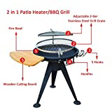 Stove Charcoal Grills Patio BBQ Cooking Burner Fire Pit Brazier Stainless Steel Party Outdoor