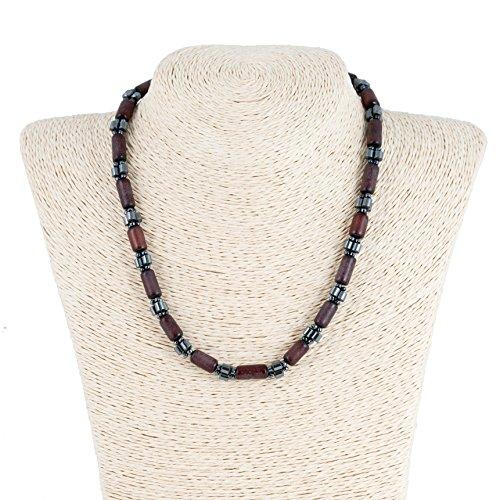 Buri Seed Necklace with Hematite Beads (Buri Seed)