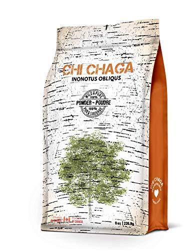 8 Oz Mushroom - Premium Organic Chaga Mushroom Powder - 8 oz of Authentic 100% Wild Harvested Canadian Chaga Tea