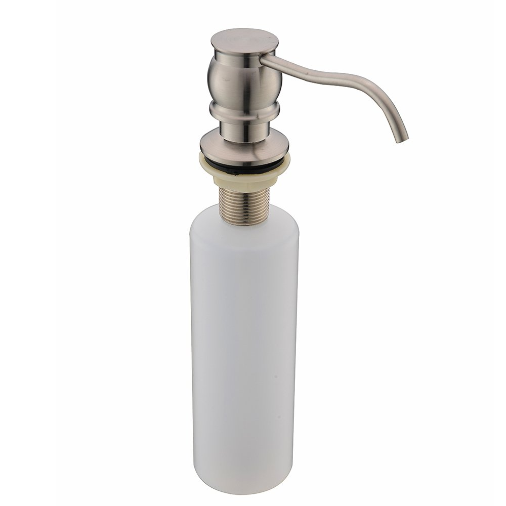 VCCUCINE Antique Country Deck Mount Brushed Nickel Kitchen Sink Granite Countertop Hand Pump Replacement Soap Dispenser, Stainless Steel Liquid Dish Dispenser by VCCUCINE (Image #1)