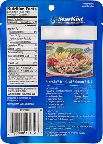 StarKist Wild Pink Salmon - Boneless, Skinless - 2.6 oz Pouch (Pack of 12)