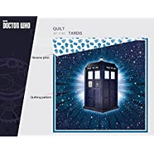 "Doctor Who Officially Licensed Tardis Full / Queen Size Reversible Bed Quilt 86"" x 86"""