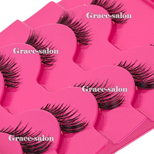 ICYCHEER Makeup 5 pairs Half Mini Corner Wing False Fake Eyelashes Eye Lashes Cosmetics Set Corner Wing