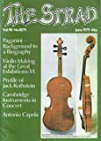 img - for The Strad : Nicolo Paganini Background to a Biography; Violin Making at the Great Exhibition of 1851; Problems of Early Training; Violin making by Antonio Capela; Profile of Jack Rothstein book / textbook / text book