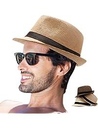 bcb5fafa6b1 Fedora Hat Mens Fedora Hats for Men Trilby Hat Straw Sun Hat Panama Hat for  Men