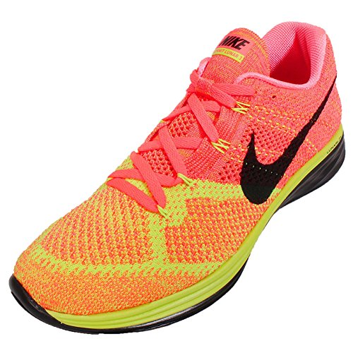 Nike Menns Flyknit Lunar3, Varm Lava / Svart-volt-lsr Orange, 8 M Oss