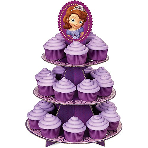 Sofia The First Costume Images - Sofia the First Cupcake Treat Stand (Each) - Party Supplies