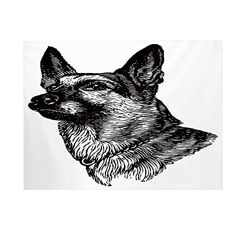 (Animal Photography Background,Pencil Sketchy of Dogs Human Best Friend Guardian Police Animal Artwork Backdrop for Studio,7x5ft)