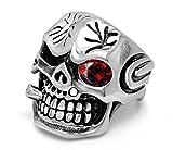 AROUND 101 Vintage Gothic Skull Biker Titanium Steel Men's Ring (11)