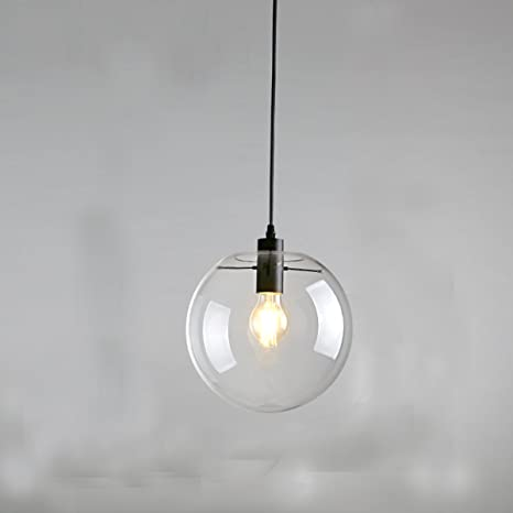 E27 industrial clear glass globe black shade pendant light modern e27 industrial clear glass globe black shade pendant light modern kitchen opening hanging lamp aloadofball Images