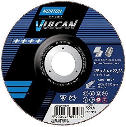 10 x NORTON Schruppscheibe gekröpft | 230x6,4x22,23 A 30 P Vulcan Fast Cut