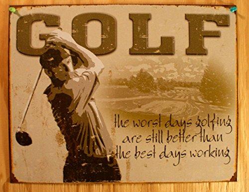 Golf - Best Days Metal Tin Sign , (Golf Tin Sign)