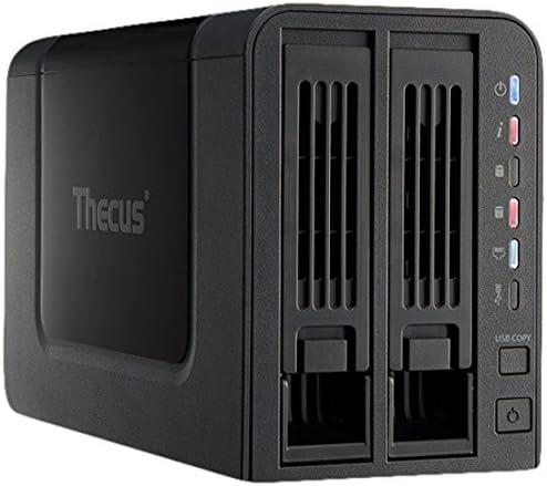 TALLA 2 tb. Thecus N2310 WD Red NAS de Almacenamiento de 2 TB (2-Bay, Intercambiables en Caliente, USB 3.0) con un Control móvil/transmisión Multimedia