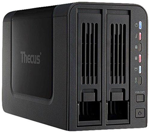 TALLA Empty Enclosure. THECUS N2310 - Servidor NAS (AMCC APM 86491 800 MH, 512 MB RAM, SATA, USB, RJ-45), Negro