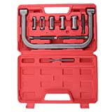 Auto Valve Spring Compressor C Clamp Tool Set Automotive Service Kit Repairing for Motorcycle ATV Car Small Engine Vehicle Equipment with Case