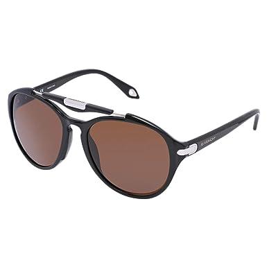 70119783cb6d Givenchy Aviator Sunglasses for Unisex - Full Rim Glossy Black Frame, Black  Lens, 3