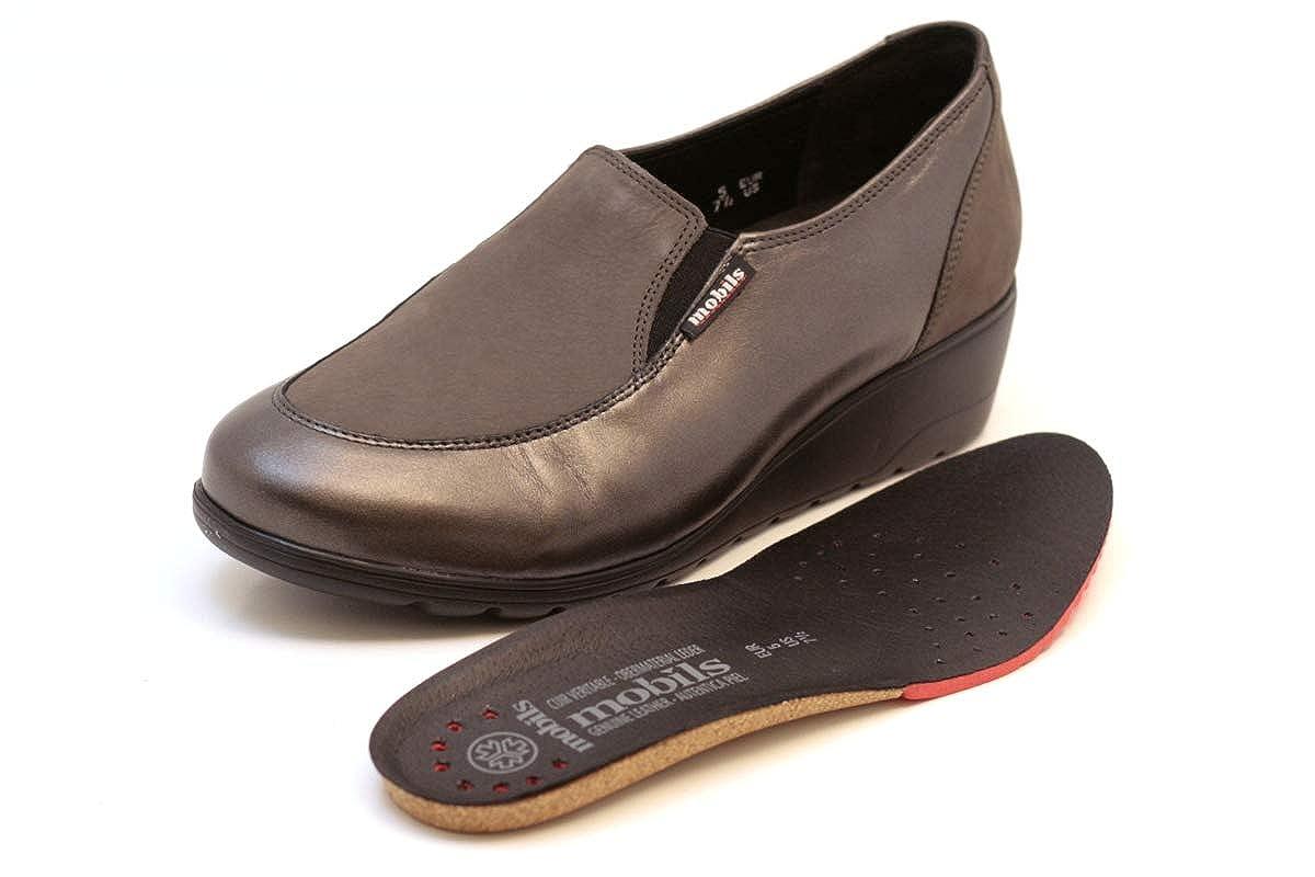 fcb72b1fa7bb93 Mephisto Mobils by Bertrane Mocassins Femme Slip-on avec Bouchon Amovible  Semelle 10103-6903 Grey Size: EU 4.5 ITA 37,5 USA 7 CM 23,7: Amazon.fr:  Chaussures ...