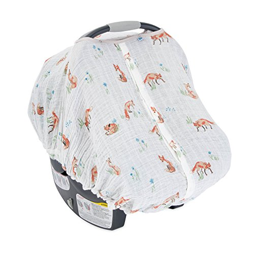 Little Unicorn Cotton Muslin Car Seat Canopy - Fox