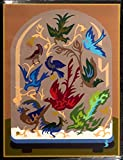"""AVIARY"" (Bell Jar)Spanish""Encanto""Tapestry,15.5'' X 20.5Original Mid-Century Modern, c.1965,100% Virgin Wool Felt,Mint Condition."