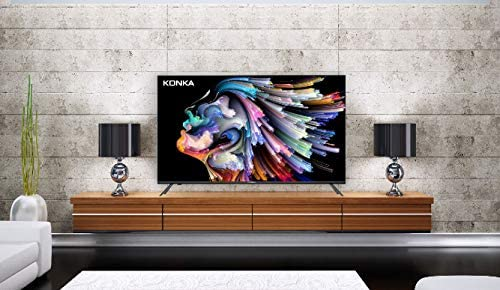 Konka 43-Inch Class U5 Series 4K Ultra HD Smart TV with Android TV and Voice Remote (43U55A, 2020 Model)