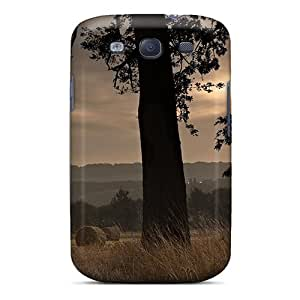 EkylOGV3968fuqwX JessieHValdez Awesome Case Cover Compatible With Galaxy S3 - Hay Bales In The Field At Sundown