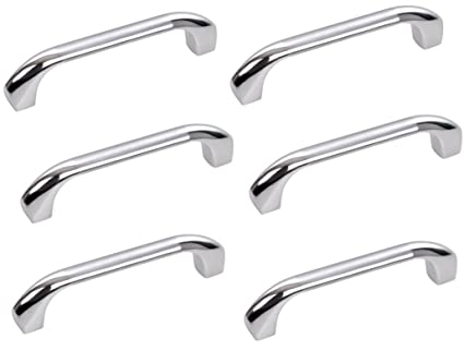 Universal Door Handle Size 6 Inch 6 Pieces, Model 099 (Silver Glossy) Universal-P80
