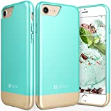 iPhone 7 Case, Vena [iSlide][Two-Tone] Dock-Friendly Slim Fit Hard Case Cover for Apple iPhone 7 (4.7'-inch) (Teal/Champagne Gold)