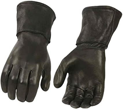 Milwaukee Leather Men's Deerskin Leather Thermal Gauntlet Gloves