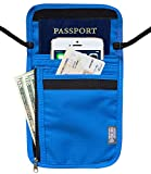Travel Passport Holder Security Neck Stash Pouch Wallet with RFID Blocking