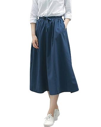 DianShaoA para Mujer Midi Faldas Plisada Alta Cintura hasta La ...