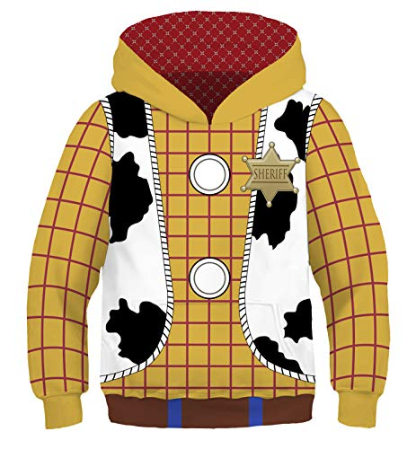 Riekinc Kids Jacket Anime Cartoon Cosplay Costume Hoodie Yellow ()
