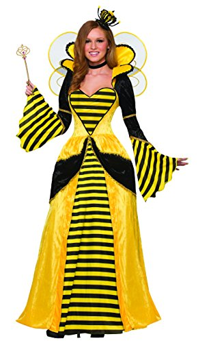 Forum Women's Royal Queen Bee Costume Dress, Yellow/Black, (Adult Bee Keeper Costume)