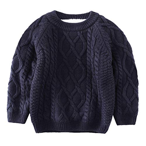 4d6b8abc7a1b De feuilles Toddler Unisex Baby Cable Knit Pullover Sweater Chunky ...