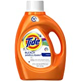 Tide Plus Bleach Alternative HE Turbo Clean Liquid Laundry Detergent, 92 oz, 48 loads
