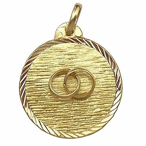 Médaille pendentif Amour 18k alliances d'or [644GR] - personnalisable - ENREGISTREMENT inclus dans le prix