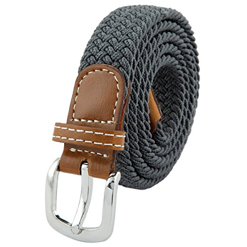 squaregarden Elastic Braided Belts for Women,PU Leather Stretch Woven (Detail Stretch Belt)