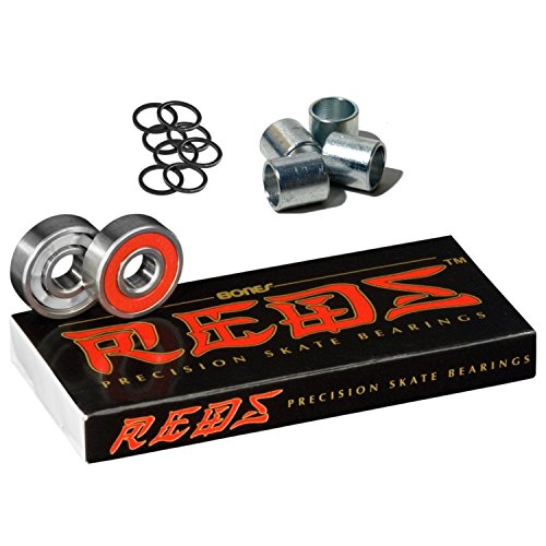 Bones Bearings Reds Bearings (8 pack W/Spacers and Washers) ()