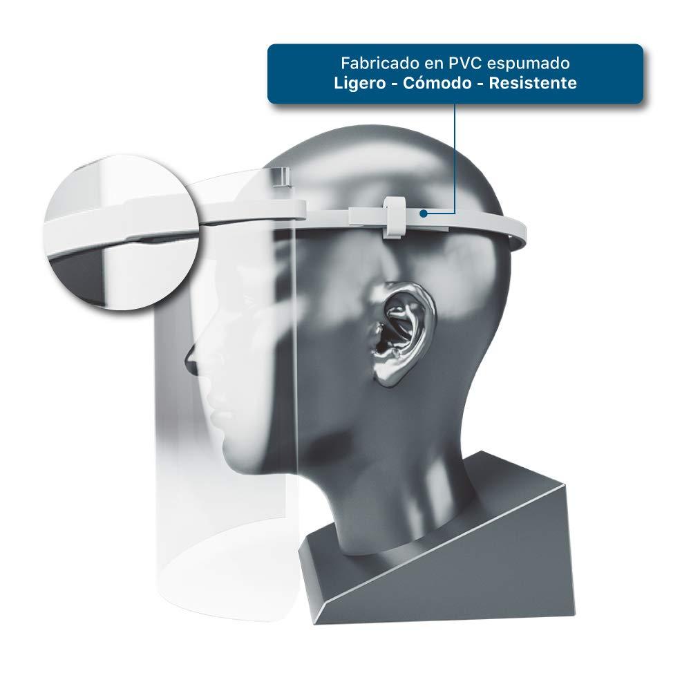 Pantalla protectora facial transparente Industrial visera en forma de mascara para usos sanitarios gafas protectoras para evitar contaminaci/ón de los ojos a partir de salpicaduras o gotas
