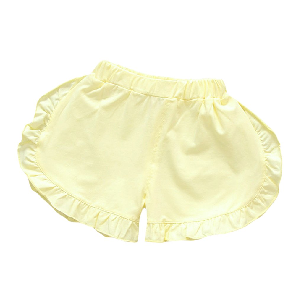 TAIYCYXGAN Baby Toddler Girls Summer Cotton Shorts Kids Elastic Ruffle Pants Bloomer Beach Shorts 3-Pack