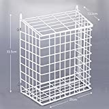 Letter Box Cage And Basket Steel Mesh In White - FREE Door Fixings Included by Direct Online Houseware