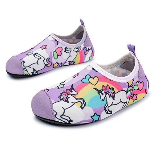 L-RUN Kids Water Sports Shoes Boys Girls Summer Swim Beach Shoes Horse 9.5-10=EU26-27 (Best Beach Shoes For Kids)