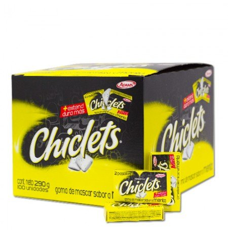 Adams Gum 100 x 2 units - Chiclets (Pack of 12) (0.2 Units)