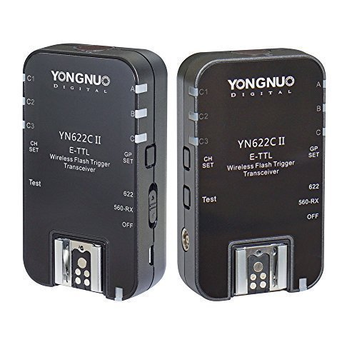 YONGNUO Wireless ETTL Flash Trigger YN622C II with High-speed Sync HSS 1/8000s for Canon camera (Wireless Radio Trigger Flash)