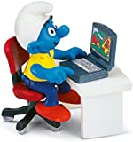 Schleich Smurf with Laptop