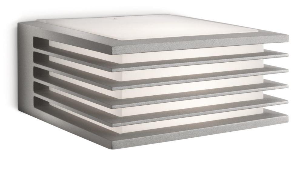 Philips Ecomoods Shades - Aplique de pared, iluminación interior, luz blanca cálida, 1 bombilla incluida, casquillo E27, 15 W, color gris [Clase de eficiencia energética A] 915002149902 PHI-8718291444329_Warmweiß apliques exterior