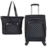 Kenneth Cole Reaction Dot Matrix 600d Polyester 2-Piece Luggage Set; Laptop Tote, 20""