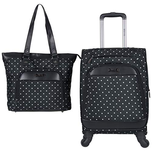 (Kenneth Cole Reaction Dot Matrix 600d Polyester 2-Piece Luggage Set Laptop Tote, 20
