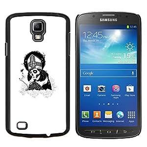 Caucho caso de Shell duro de la cubierta de accesorios de protección BY RAYDREAMMM - Samsung Galaxy S4 Active i9295 - Cráneo del azúcar de Goth Papa Chica
