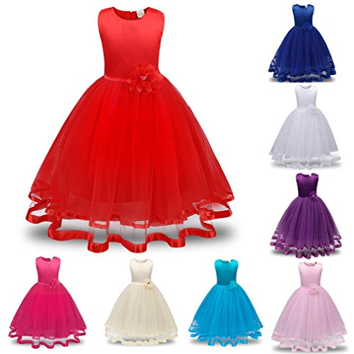 d'onore Pink Principessa Girls Damigella Girl Competition Party Amlaiworld Dress Dress Flower Bride P8UxqngRn